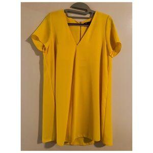 Zara Shift Short-Sleeved Dress ☀️